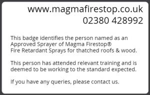 Magma Firestop Approved Sprayer ID back