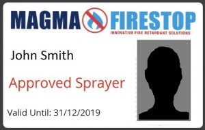 Magma Firestop Approved Sprayer ID front